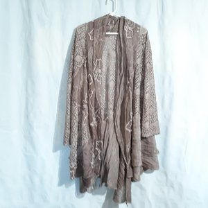 Simply Couture 3XL Lagenlook Layered Open Cardigan